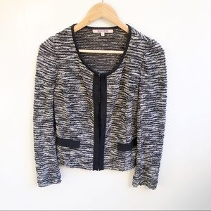 Review 8 Tweed Boucle Drape Front Jacket Blazer